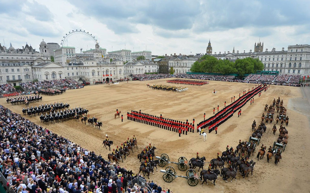 Seating Solutions and Camera Tower Structures for Trooping the Colour